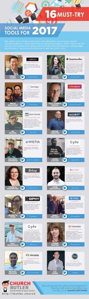 church communications social media tools list