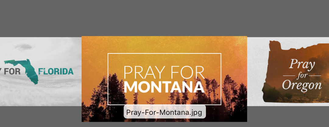 PRAY FOR Graphics: Oregon and Montana