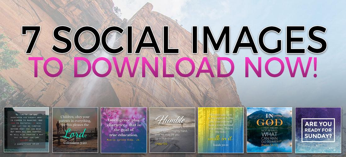 church social media graphics